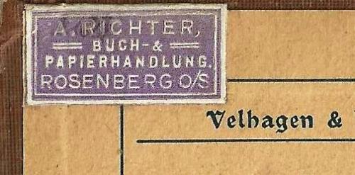 A. Richter Buch & Papier-Handlungung Rosenberg O/S.